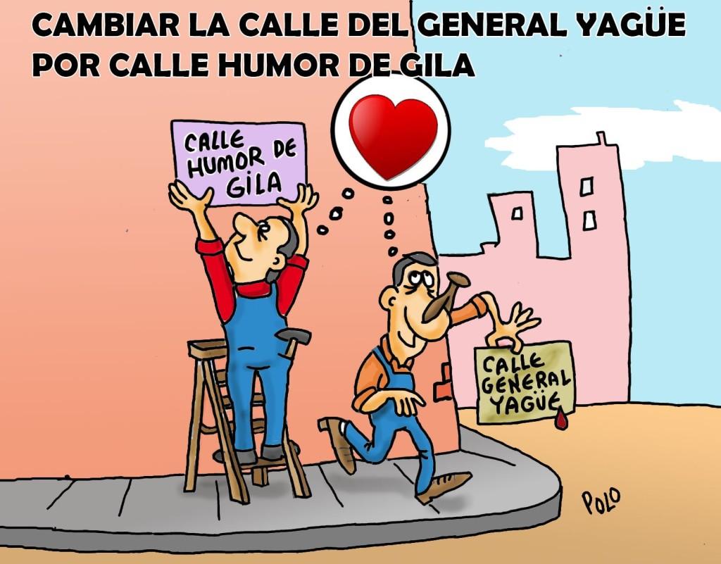 Viñeta de Polo apoyando calle Humor de Gila