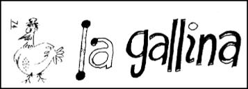 Cabecera revista La Gallina