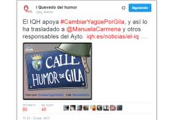 Apoyo del Instituto Quevedo del Humor a la Calle Humor de Gila