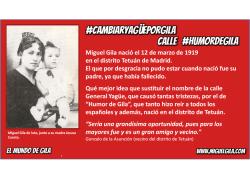 Nacimiento de Miguel Gila - Distrito Tetuán en Madrid
