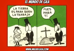Viñeta de Miguel Gila - Chistes gráficos - Ricos y pobres