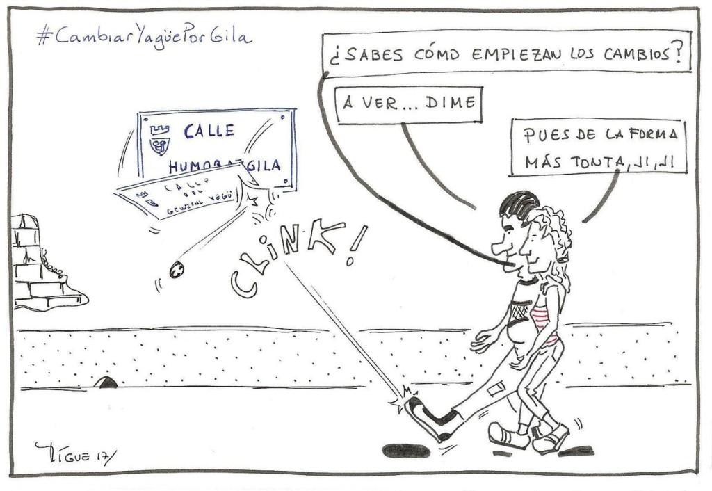 Apoño viñeta de Miguel - Politiquea a la iniciativa #CambiarYagüePorGila Calle #HumorDeGila