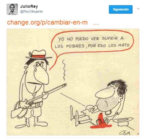 Apoyo de Julio Rey a la Calle Humor de Gila