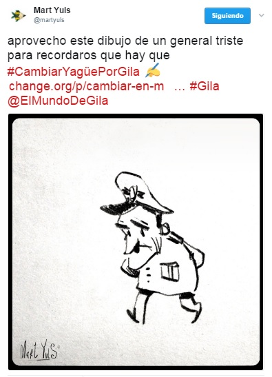 Viñeta de Mart Yuls - Apoyo calle Humor de Gila
