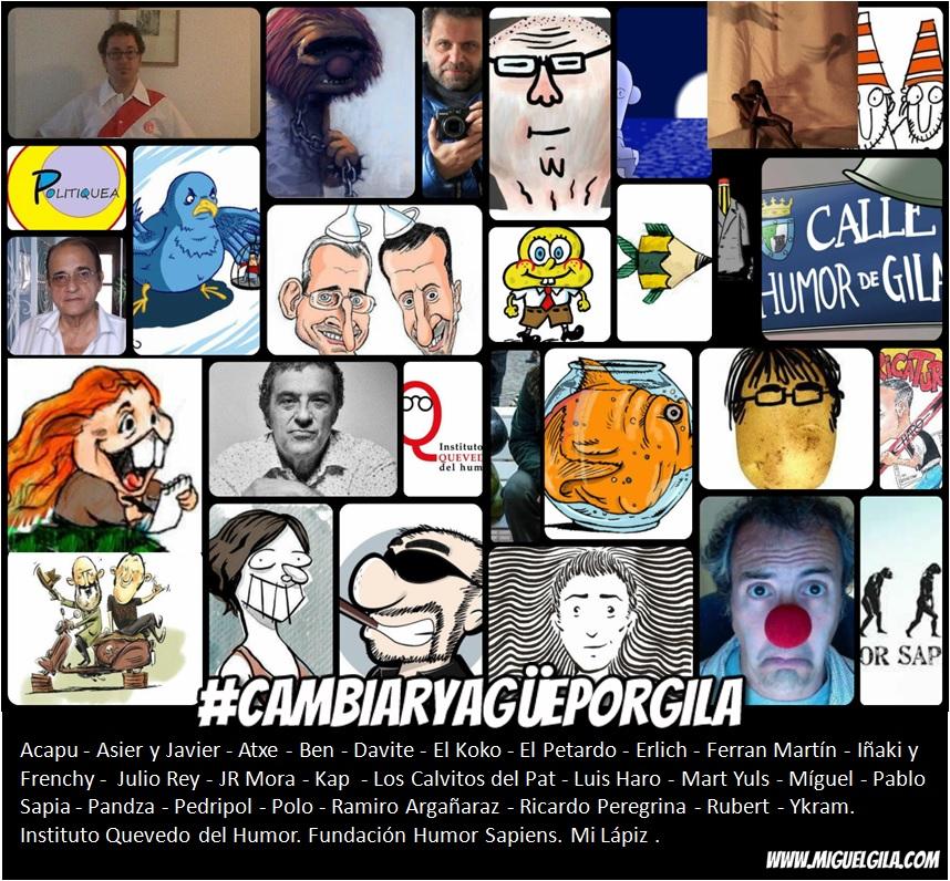 Humoristas gráficos que apoyaron la iniciativa #CambiarYagüePorGila