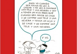 Viñeta de Miguel Gila - El consumismo