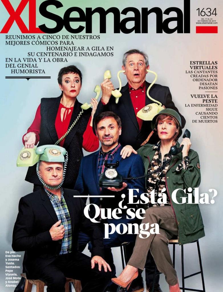 Homenaje a Miguel Gila en XLSemanal: Eva Hache, Josema Yuste, Pepe Viyuela, José Mota y Anabel Alonso