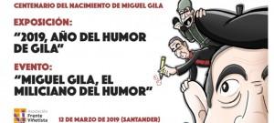 Exposición y evento del centenario del nacimiento de Miguel Gila en Santander por el Frente Viñetista