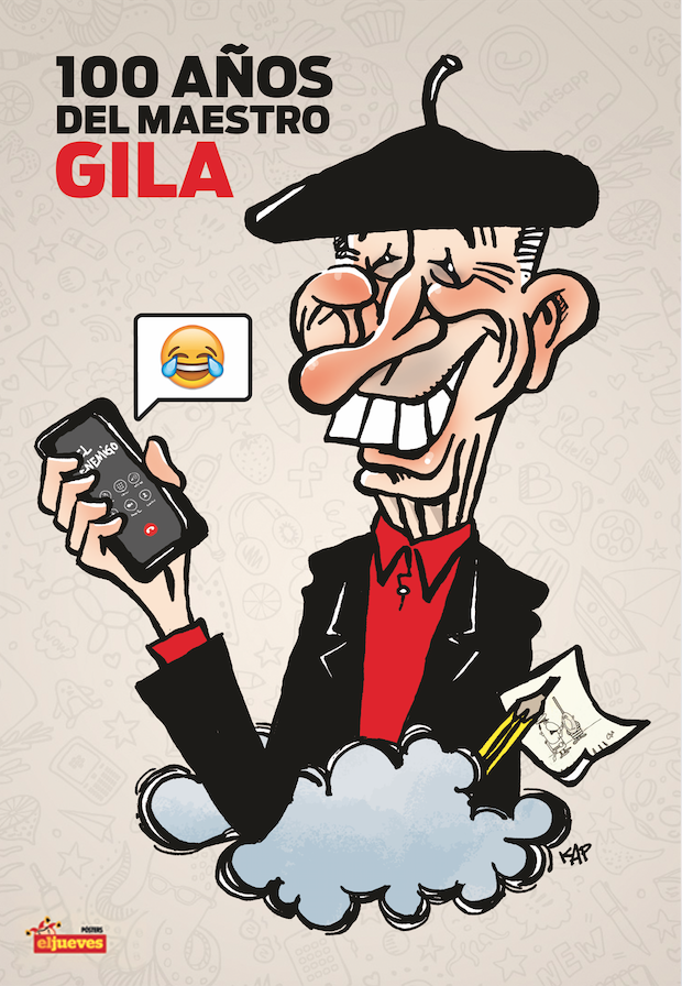 Gila ocupa el póster central de la revista El Jueves en el centenario de su nacimiento