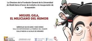 """Exposición """"Miguel Gila, el miliciano del humor"""" en la Fábrica del Humor - 26 junio 2019"""