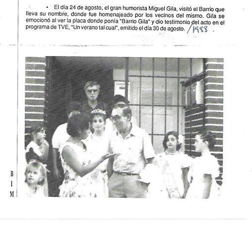 Miguel Gila visita el Barrio Gila