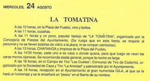 Programa de fiestas de Buñol a las que asistió Miguel Gila