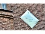 Colocación de una placa en homenaje a Miguel Gila, en su casa de Zurbano del barrio Chamberí en la que vivió durante su infancia y juventud